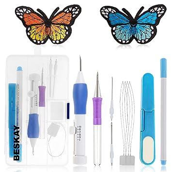 beskay gama completa de bordado kit incluido aguja para bordado de Magic Pen con aro de