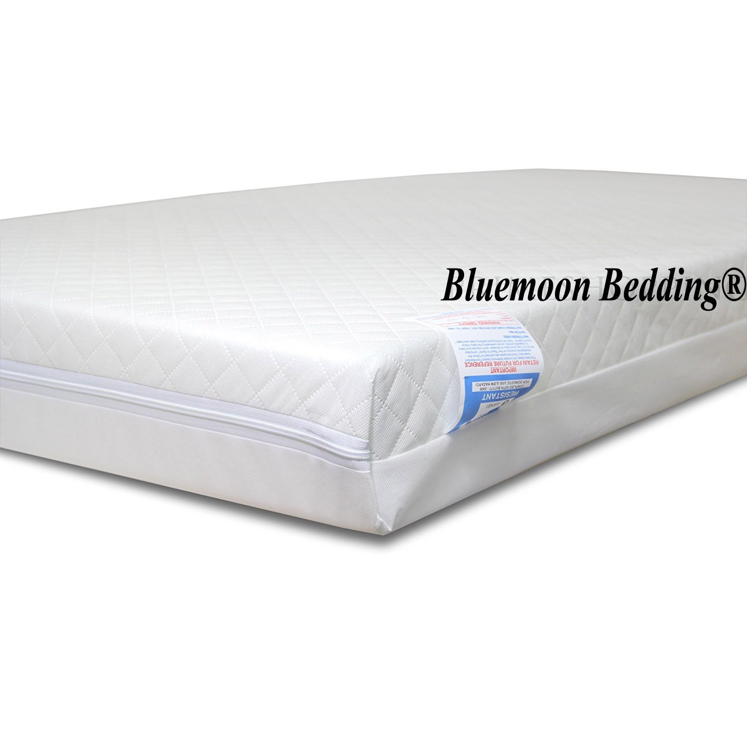 Fully Breathable Standard Travel Cot Mattress (93 x 66 x 7.5 cm)