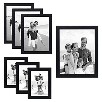 Amazon.com - Americanflat 7 Pack - Black Picture Frames - Gallery ...