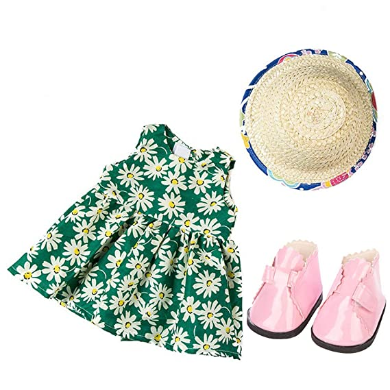 tianranrt Mode Ropa Vestido Para 18 pulgadas Norteamericanos niña muñeca ropa Set, Multicolor: Amazon.es: Bricolaje y herramientas