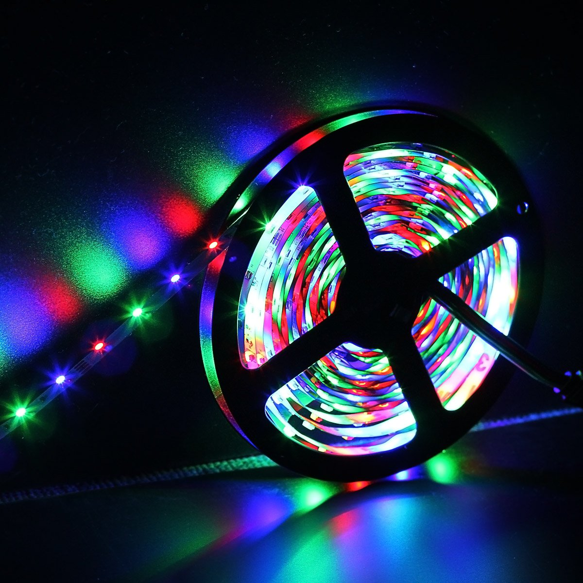 SUPERNIGHT 5M/16.4 Ft SMD 3528 RGB 300 LED Color Changing Kit with Flexible Strip Light+24 Key IR Remote Control+ Power Supply by SUPERNIGHT (Image #7)