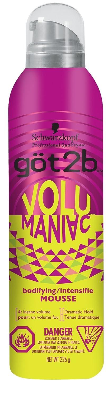 got2b Volumaniac Mousse for Insane Volume Hold, 226g (2113790) Henkel Canada