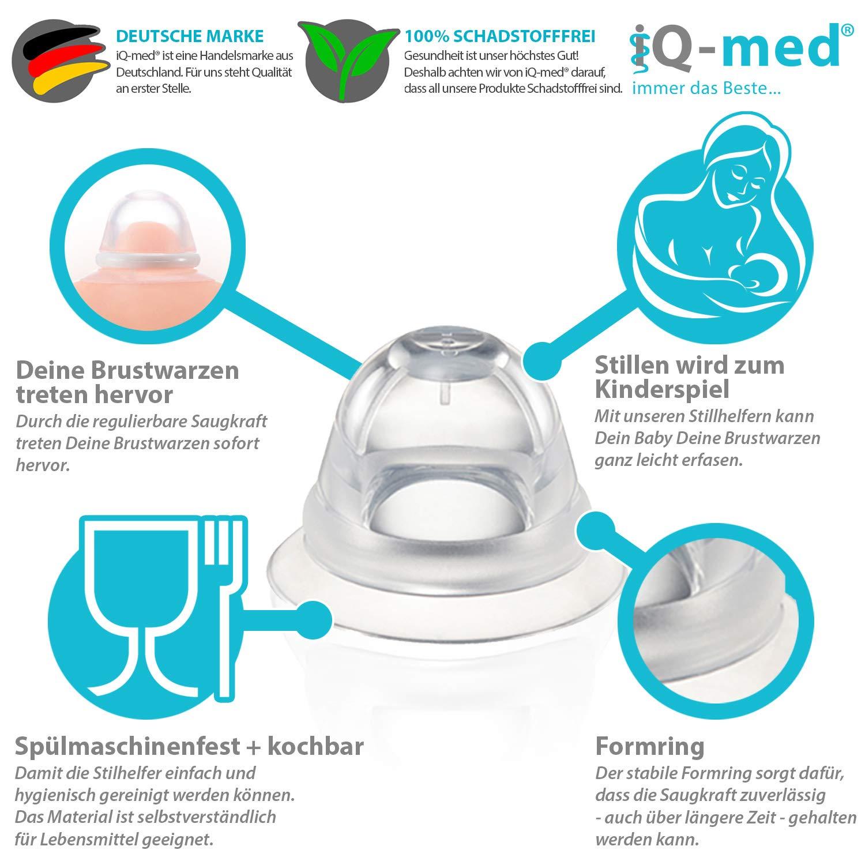 Hilfe bei Schlupfwarzen Brustwarzenformer iQ-med Stillhelfer 2 St/ück