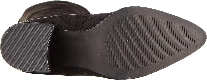 Steve Madden dames Janey Overknee laarzen Zwart Black Micro 039
