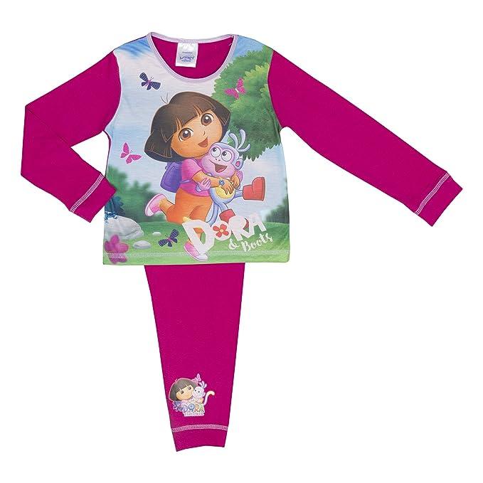 Cartoon Character Products - Pijamas enteros - Manga Larga - para bebé niña morado fucsia