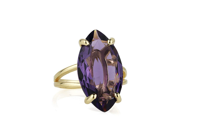 Handmade Purple Amethyst Ring,Gemstone 925 Sterling Silver Precious Gift For Her