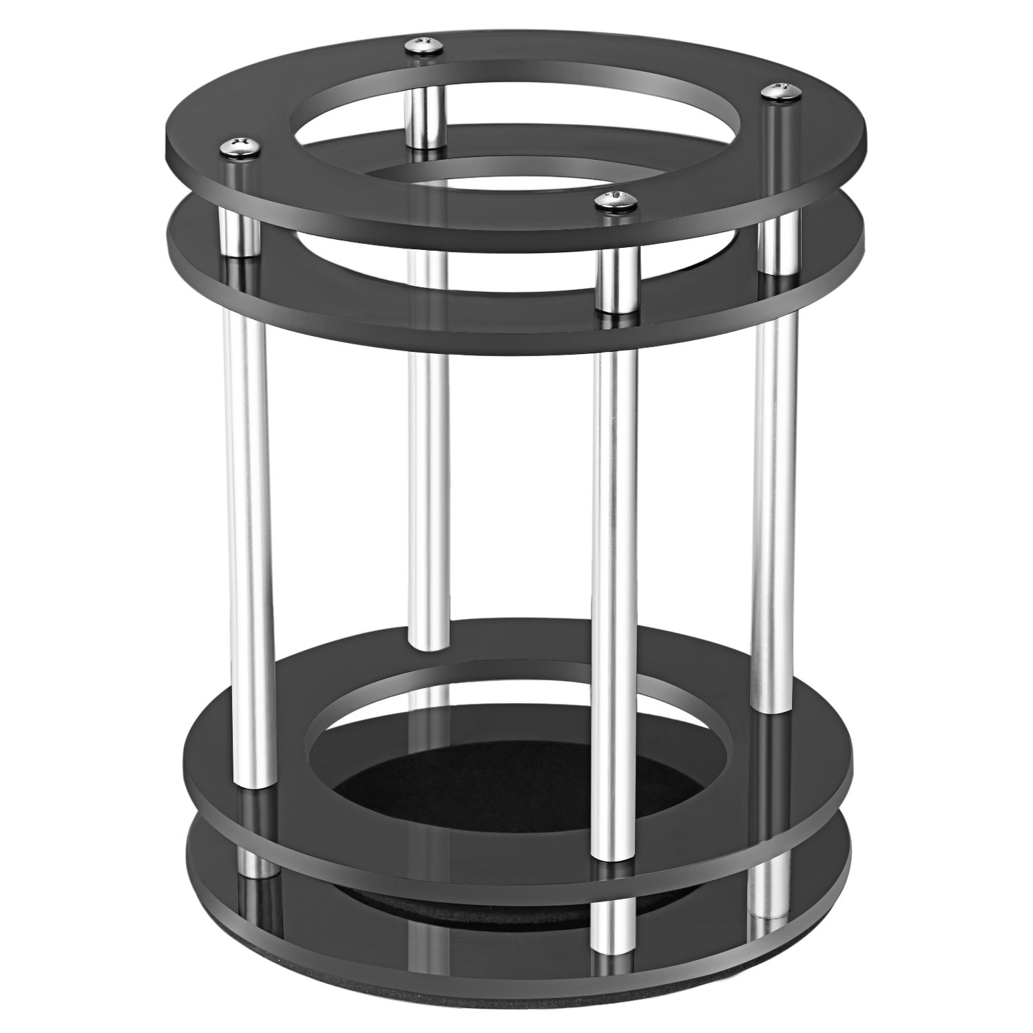 Neewer Speaker Guard for Amazon Echo UE Alexa Boom Speaker with Acrylic Glass Rings, Aluminum Alloy Columns, Stainless Screws, Soft Cushion, Enhanced Strength and Stability to Protect Echo (Black) 40089137