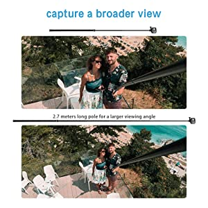 TELESIN 106 Long Carbon Fiber Handheld GoPro Selfie Stick Extendable Pole Monopod for GoPro Hero8 Hero7 Hero 6 Hero 5 Black, DJI OSMO Action Camera, Insta 360 Cam & Other Action Cameras (Color: Black+Blue)