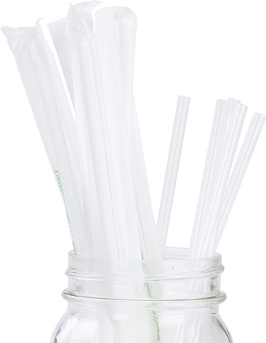 Claro plástico Biodegradable pajitas paquete de 200 a granel ...