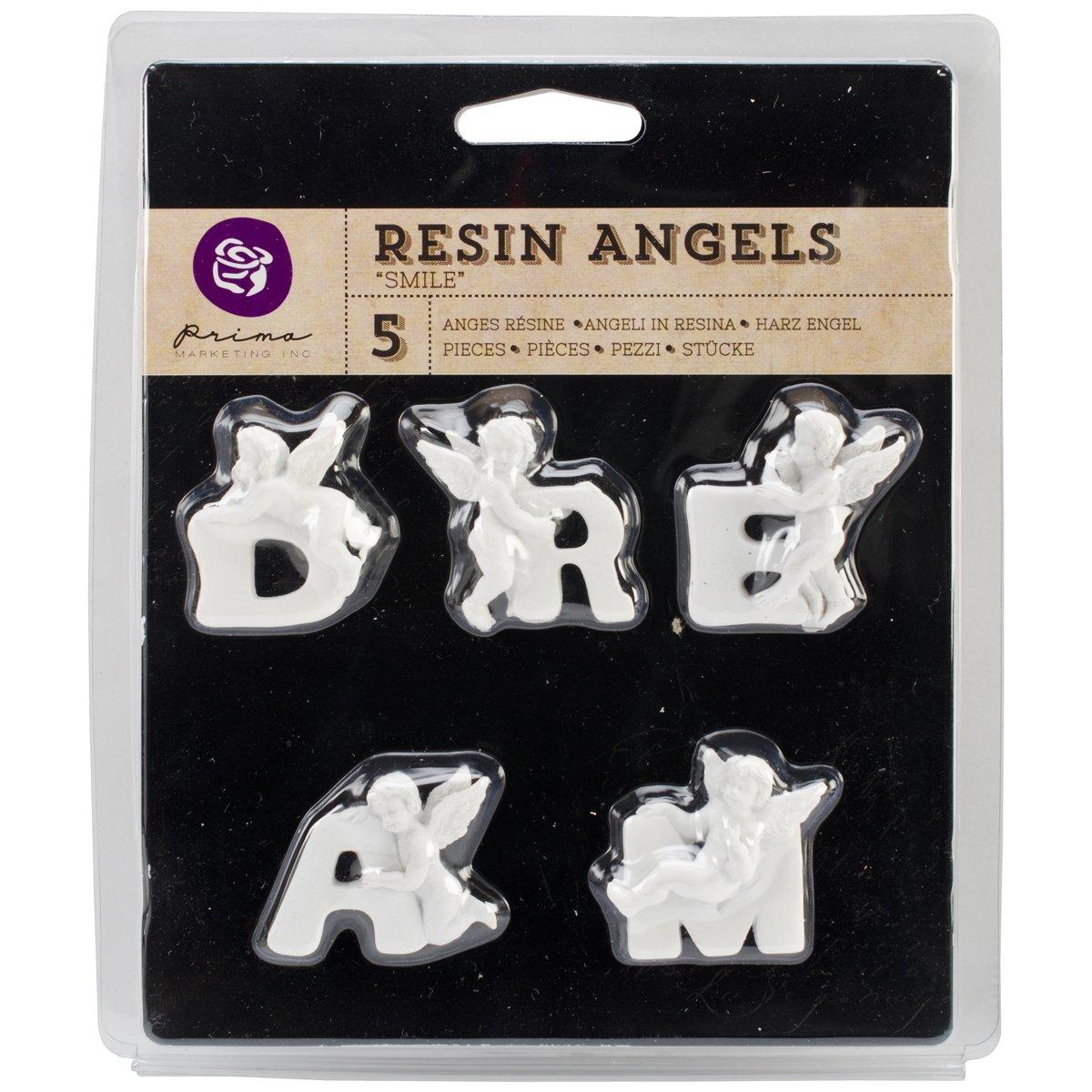 Letters Prima Marketing Resin Angel Embellishments Dream Word 1-Inch