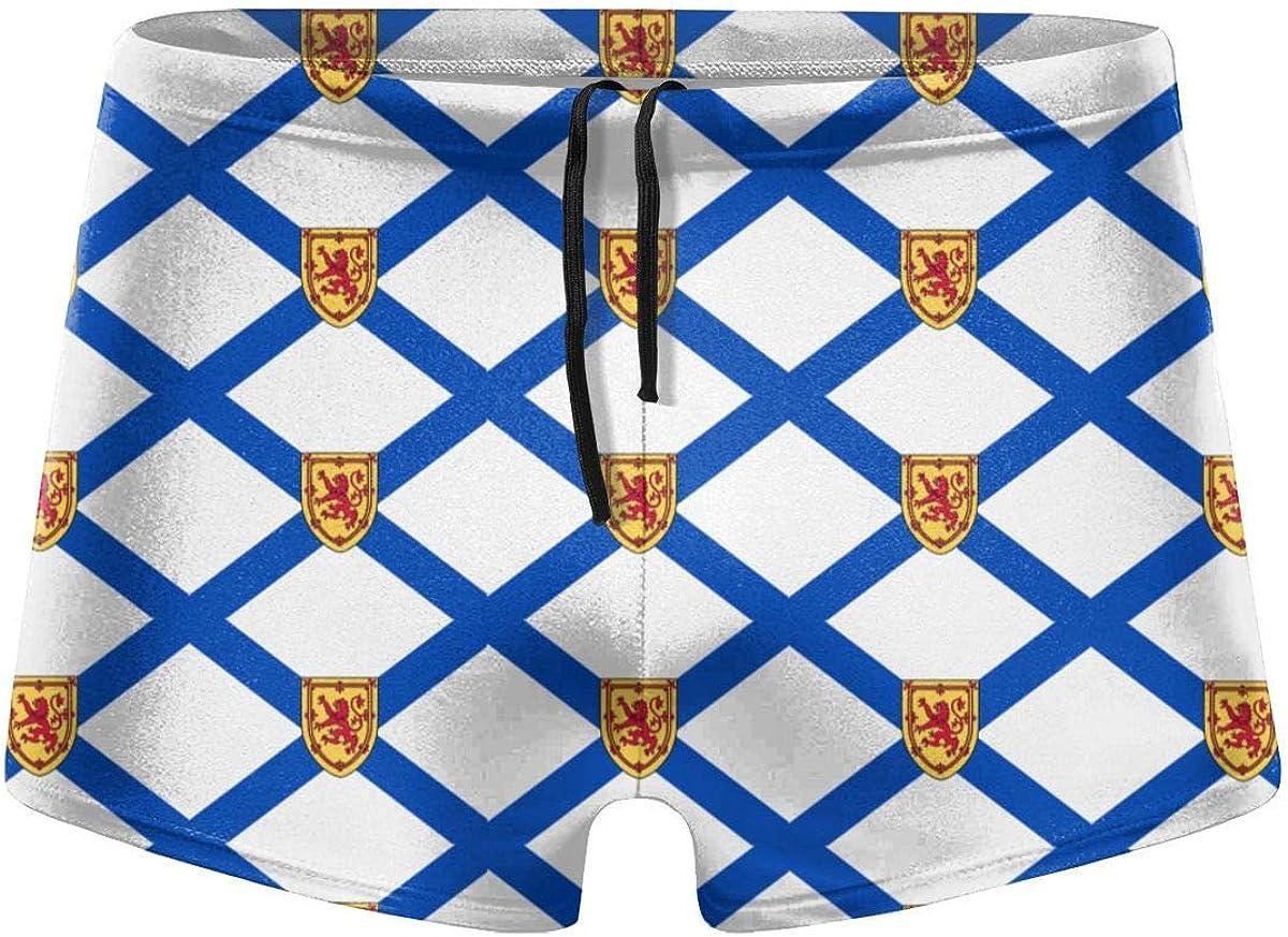 ERTERT Calzoncillos Boxer de nataci/ón con Bandera de Canad/á de Nueva Escocia para Hombre Swim Jammer Swim Trunks Board Shorts Traje de ba/ño de Pierna Cuadrada