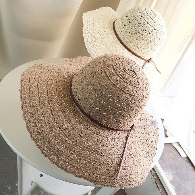 66a11a425 Summerdaisy Women Beach Sun Hats Girls Floppy Straw Hat Woman ...