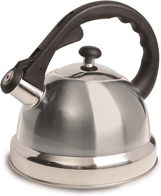 Tetera de Acero Inoxidable para Estufa Hervidor de Caf/é de Piedra de Inducci/óN con Manejar Anti-Caliente Blanco Timagebreze Tetera Whistling Tea