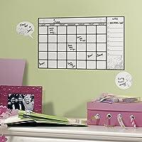 RoomMates Room-Calendario Tareas (con rotulador borrable), Blanco/Multicolor