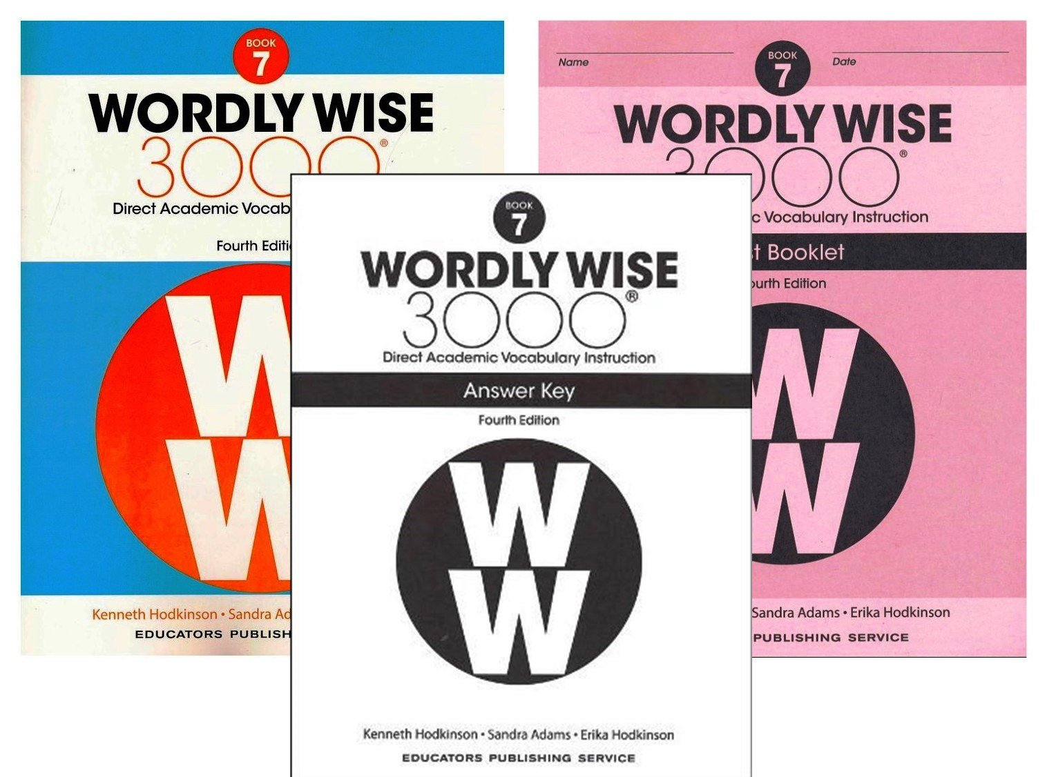 Wordly Wise 3000® 4th Edition Grade 7 SET -- Student Book, Test Booklet and Answer  Key (Direct Academic Vocabulary Instruction): Amazon.com: Books