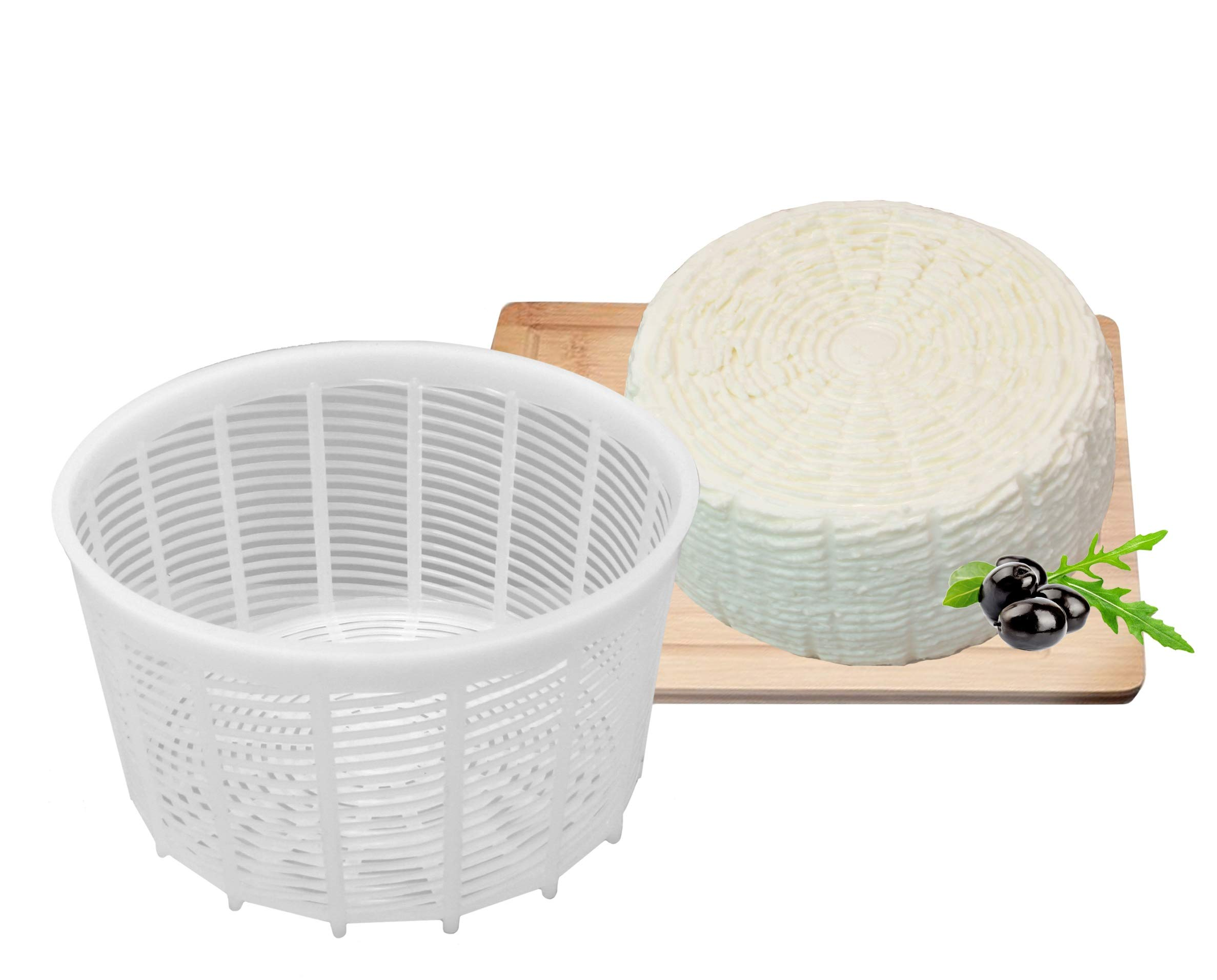 Basic Cheese Mold, soft & hard cheeses Hard Cheese Butter Punched Making Mold 1.15 liters by PetriStor