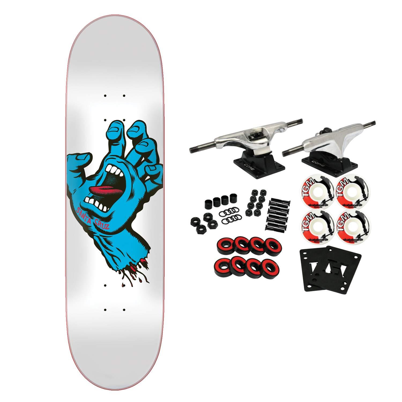 Santa Cruz Skateboard Complete Screaming Hand Taper Tip White 8.25