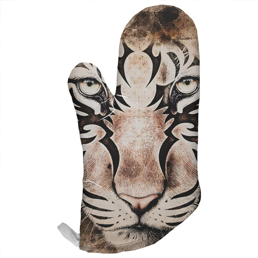 Tiger Eye Ghost And The Darkness All Over Oven Mitt Multi Standard One Size