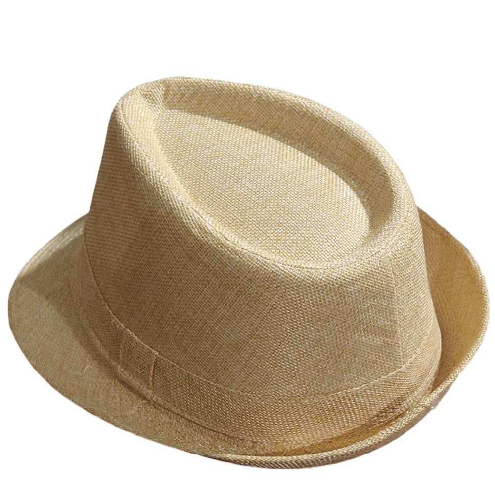 Outflower Jazzhut/Panamahut/Strohhut für Herren und Damen, khaki, 58 cm