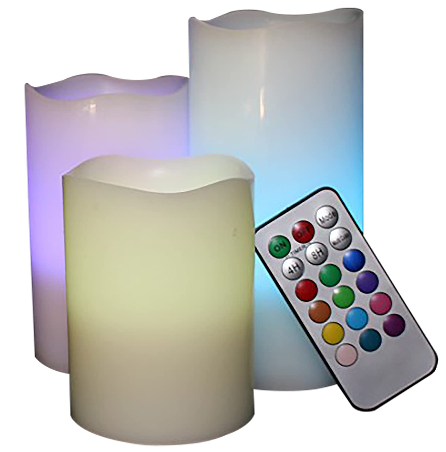 Lytes Flameless Candles, Multi Color Changing Option Battery