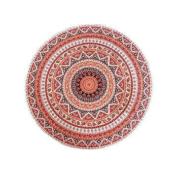 JUNYZSTJ Comprimido Hippie Beach Throw Toalla Redonda Mat Boho Tapiz Tapete De Yoga/Toalla De Playa/Picnic Cushion (150Cm), Model 1: Amazon.es: Hogar