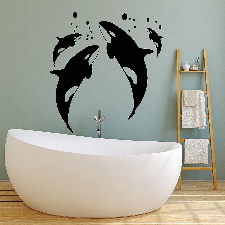 Vinyl Wall Decal Killer Whale Sea Ocean Style Bathroom Decor
