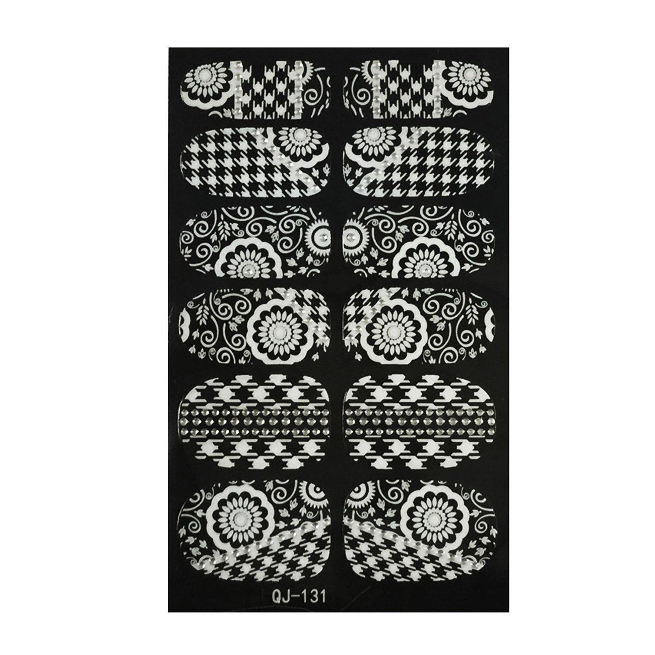 【最安値】 Wrapables Decoファッショナブルなネイルアートステッカー B00WXOKLDC、ブラックとホワイト Wrapables B00WXOKLDC, よかねっとはかた:ff469031 --- mvd.ee
