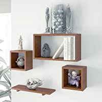 Wooden Wall Shelf Set of Four for Living Room Furniture