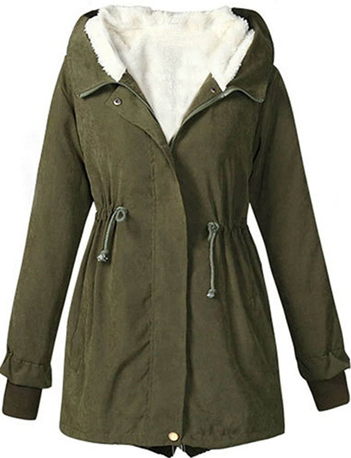 Greenis Autumn Winter Womens Hooded Thick Padded Long Coat Outerwear Jacket