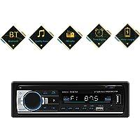 Bluetooth Autoradio mit Freisprecheinrichtung, Radio Auto mit Fernbedienung 2 USB/AUX/TF/FM/AM/MP3 Player/DIN Anschluss, Stereo FM Radio für Auto und PKW