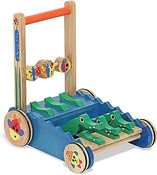Melissa & Doug First Play Chomp & Clack Alligator Walking Toy