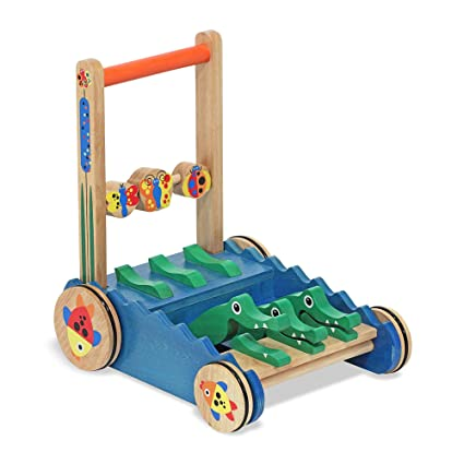 ea137cb05518 Amazon.com  Melissa   Doug Chomp   Clack Alligator Push Toy