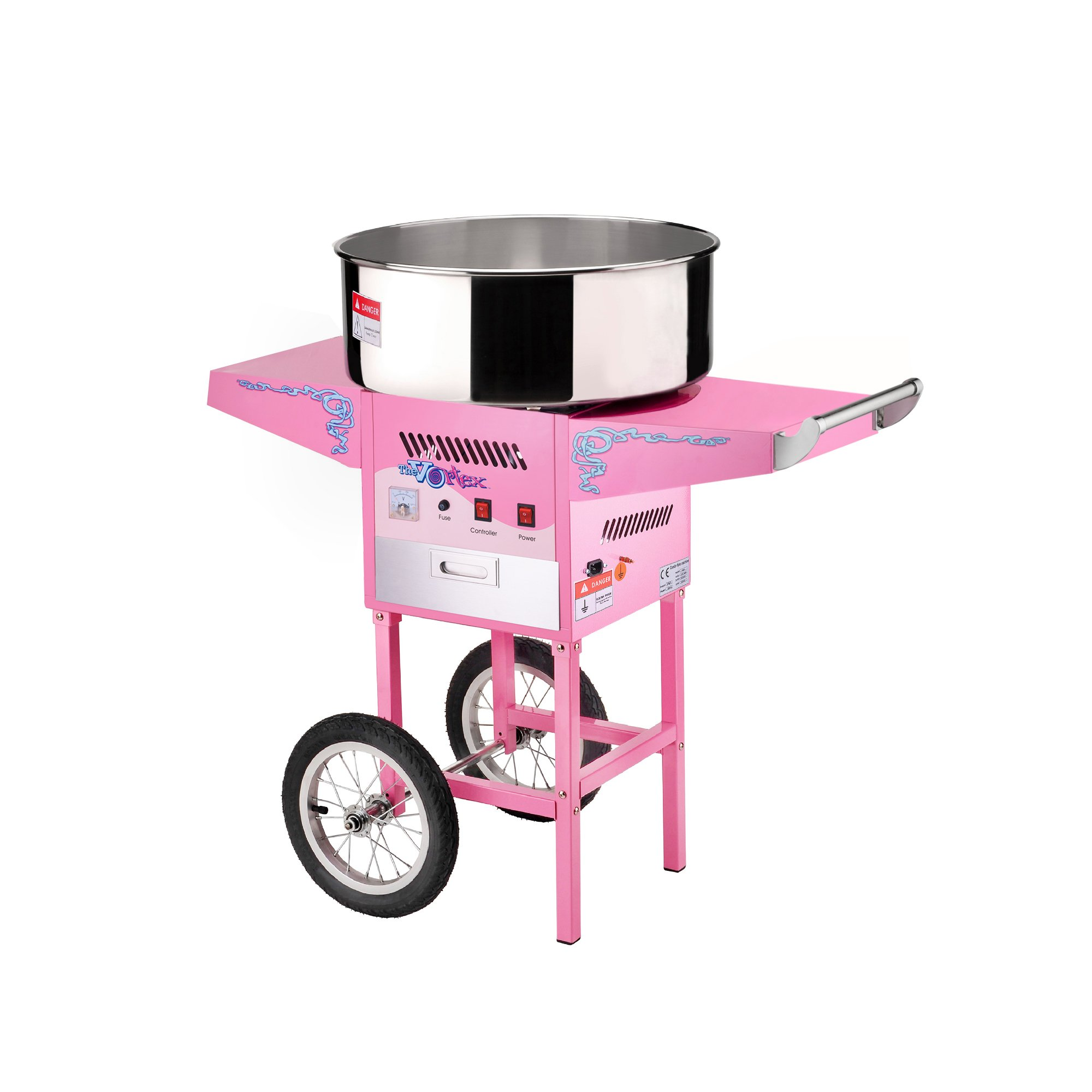 6304 Great Northern Popcorn Commercial Cotton Candy Machine Floss Maker With Cart by Great Northern Popcorn Company