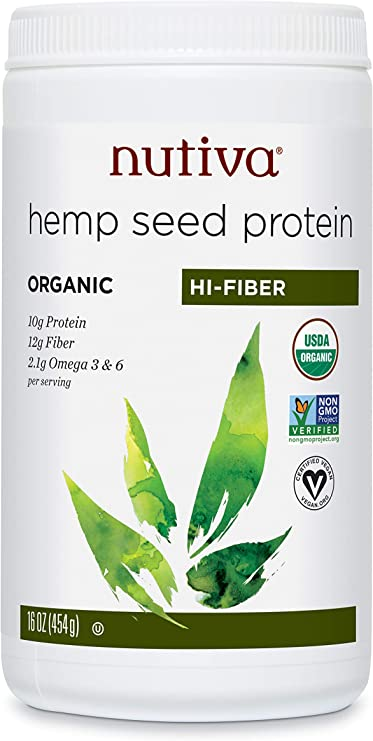 Nutiva Organic Hemp Protein Hi Fiber, 16 Ounce: Amazon.es ...