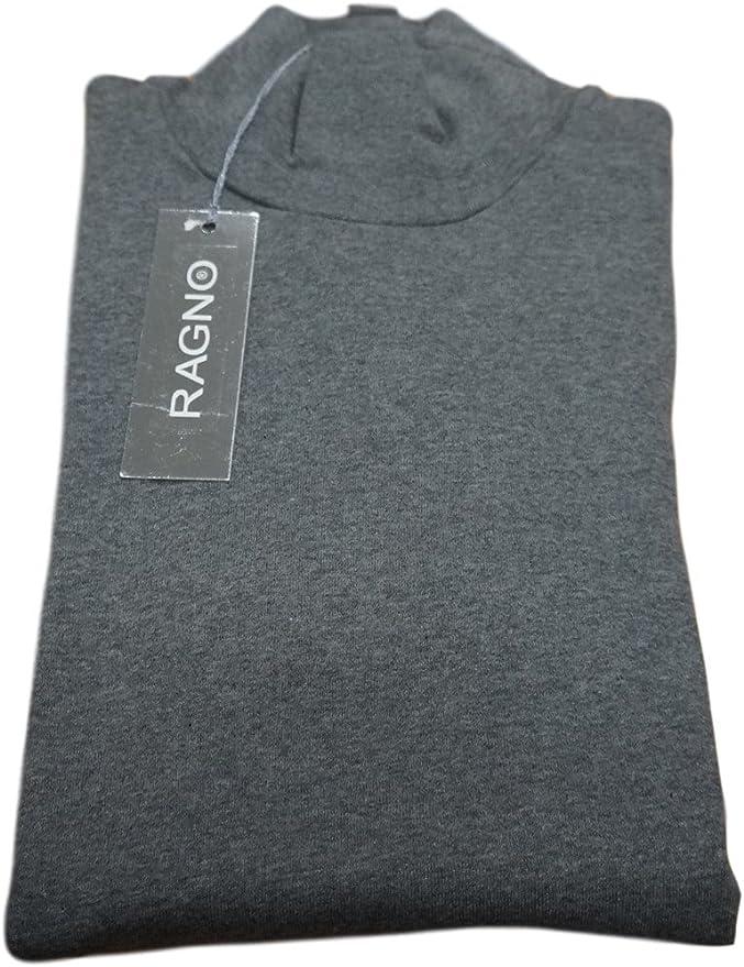 Ragno - Suéter de cuello alto para mujer de cálido algodón. Art. 07452K, gris antracita, 4: Amazon.es: Deportes y aire libre