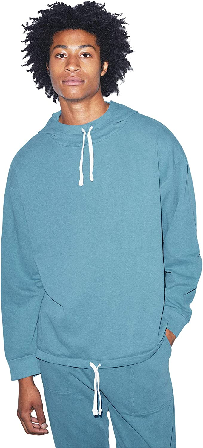 Faded American Apparel Mens French Terry Long Sleeve Drawstring Hoodie