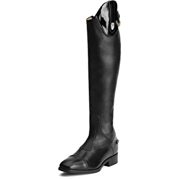 e61913a96e9dc Ariat Womens Monaco Tall Stretch Zip Riding Boots Black Patent Footwear  Size - 4.5Ariat Calf