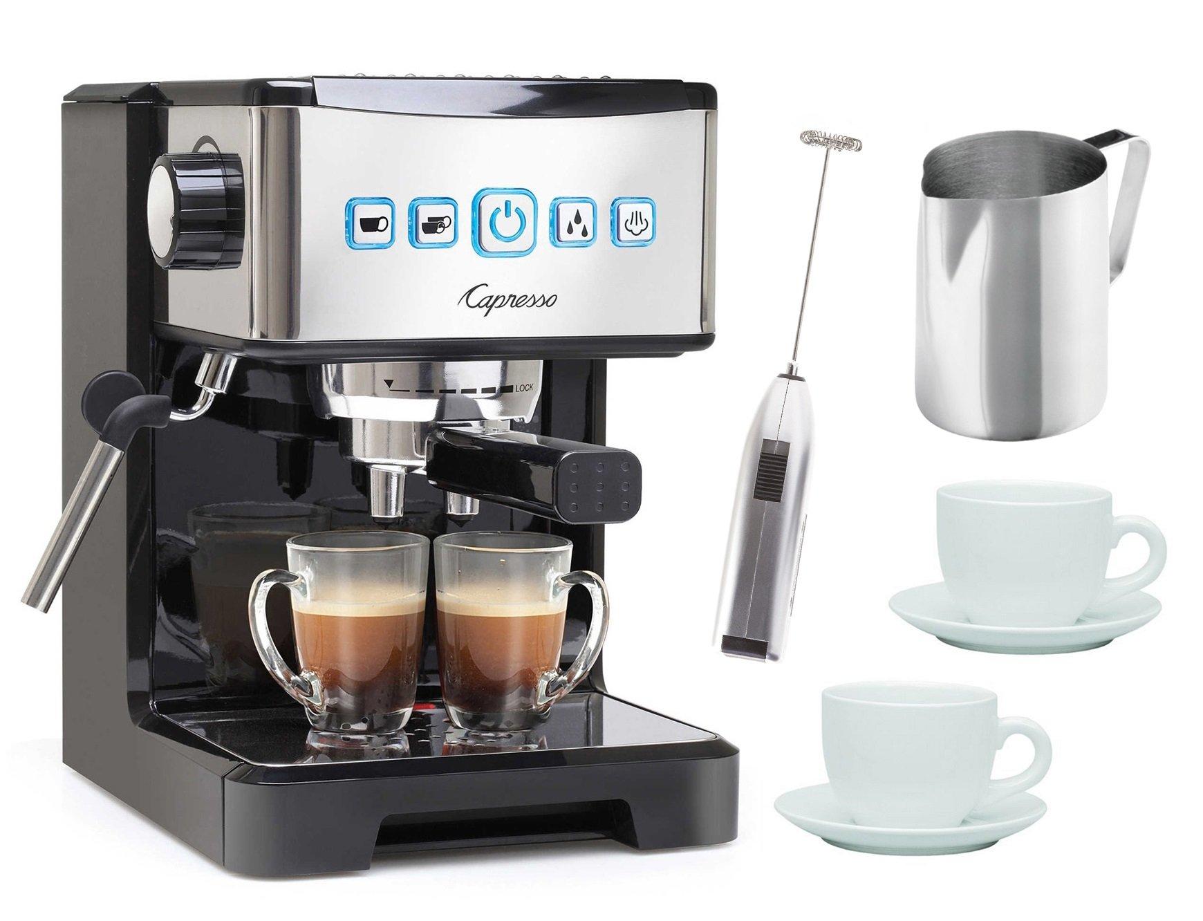 Capresso Ultima PRO Programmable Espresso & Cappuccino Maker Bundle (Certified Refurbished)