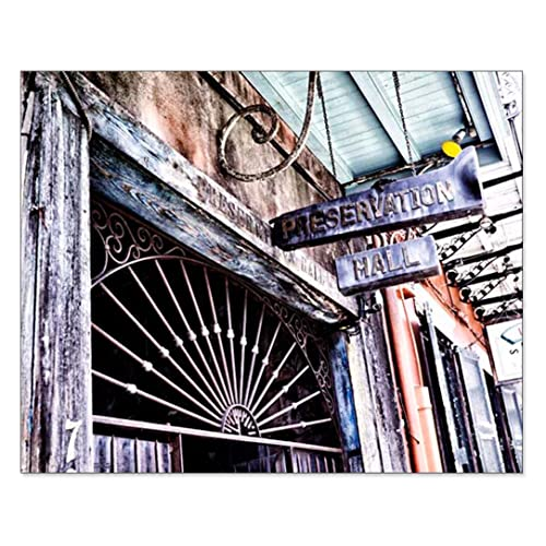 New Orleans Picture Preservation Hall Photo Music Wall Art French Quarter Print NOLA Decor