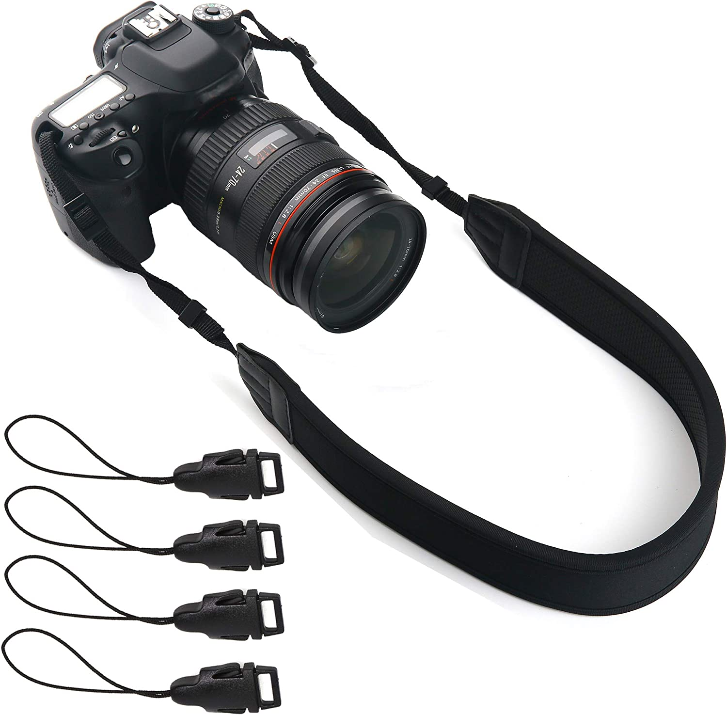 Neck Strap Lanyard Style Adjustable with Quick-Release for Sony Handycam DCR-SR87