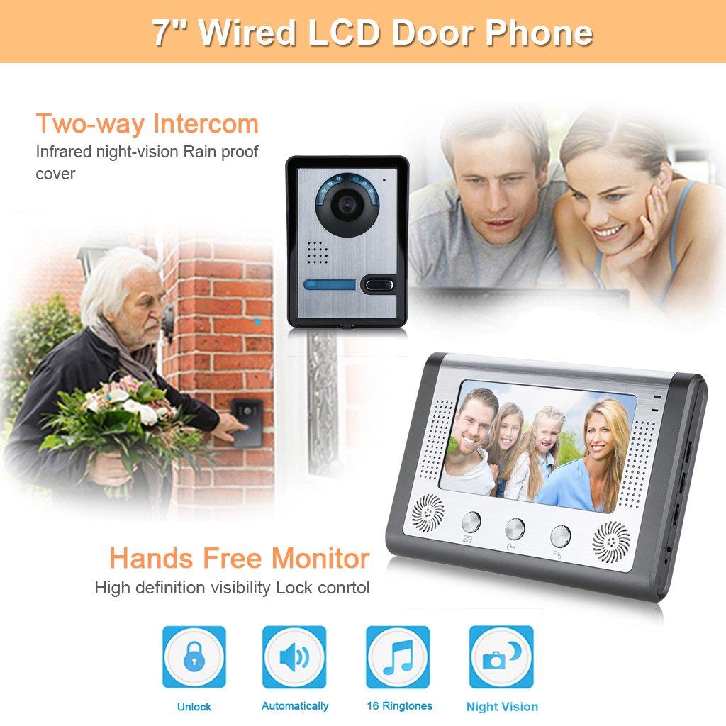 videoportero kit timbre digital floureon herramientas electricidad herramientas bricolaje tienda online comprar en amazon
