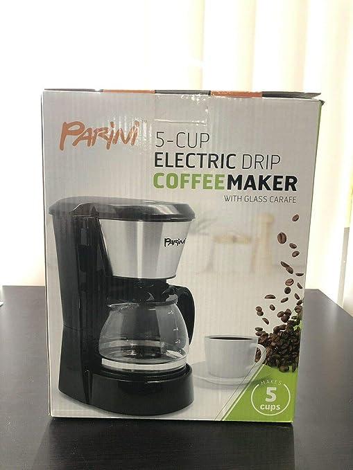 Amazon.com: Parini-5 - Cafetera eléctrica de goteo con jarra ...
