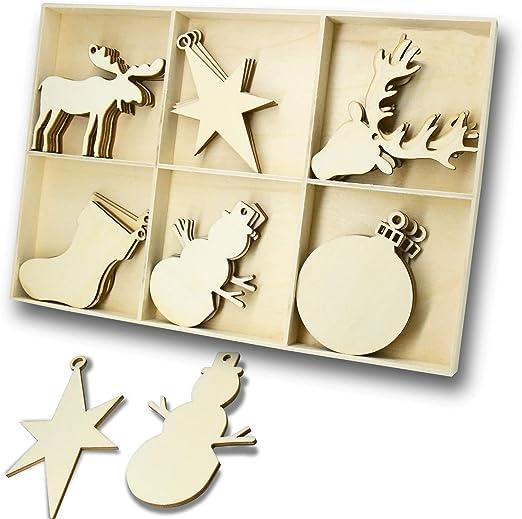 Yuqi copos de nieve de madera para decoración de Navidad, 29,5 x ...