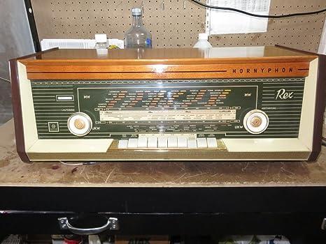 ANTIGUA RADIO HORNYPHON REX W462A 1963