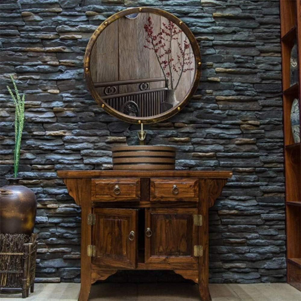 TIAN Vintage Forjado Lavabo Espejo, Hierro Antiguo Viejo baño de la Lente Redonda decoración del Dormitorio Espejos de vanidad