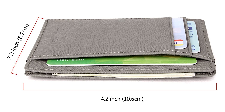 Tonly Monders Minimalist Genuine Leather Wallet RFID Front Pocket Wallet Slim Credit Card Holder