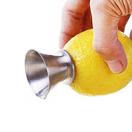 Best Utensils, exprimidor manual de limón de acero inoxidable, escariador 18/8, para extraer cítricos y vertedor el limón