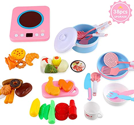 Amazon.com: Juguetes de cocina de juguete MOICO para niños ...