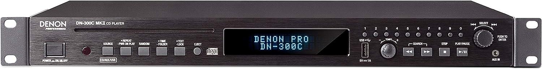 Denon Professional DN-300CMKII - Reproductor de medios y CD montable en rack con bandeja de transporte robusta