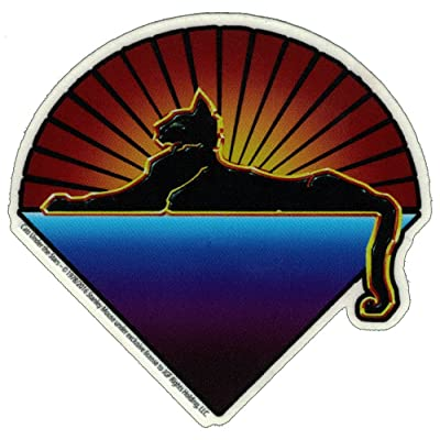 "Dye the Sky Grateful Dead Cats Under The Stars - Small Bumper Sticker/Decal (2.5"" X 2.5""): Automotive"